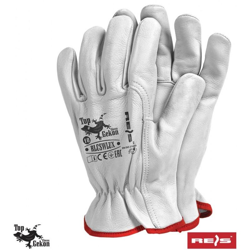 Rękawice-ochronne-całoskórzane-skóra-kozia - RLCSWLUX