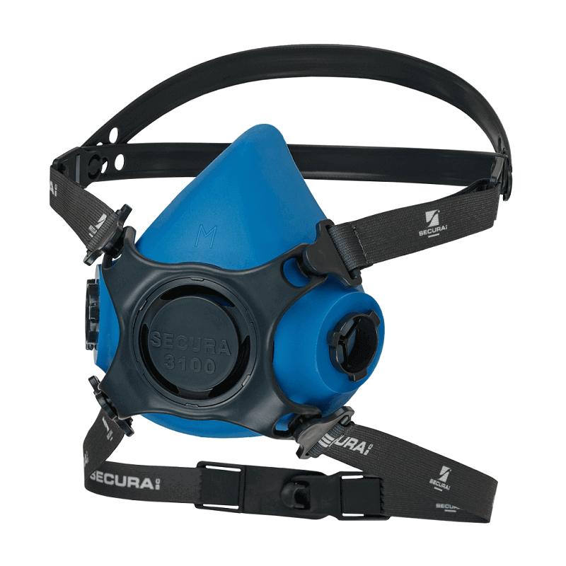 Półmaska-ochronna-wielorazowa-trzyczęściowe-regulowane-nagłowie - SECURA-3100