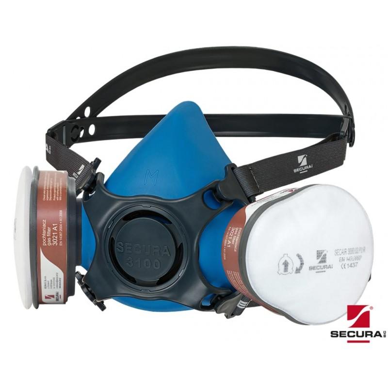 Półmaska-lakiernicza-zestaw - SECURA-3100-LAK