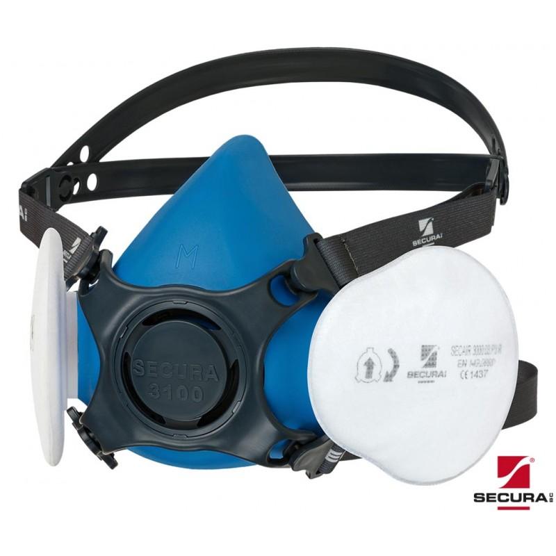 Półmaska-wielorazowa-przeciwpyłowa-P3-zestaw - SECURA-3100-DUST