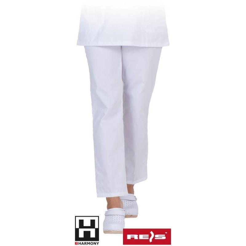 Spodnie-damskie-białe-do pasa - LIRA-T