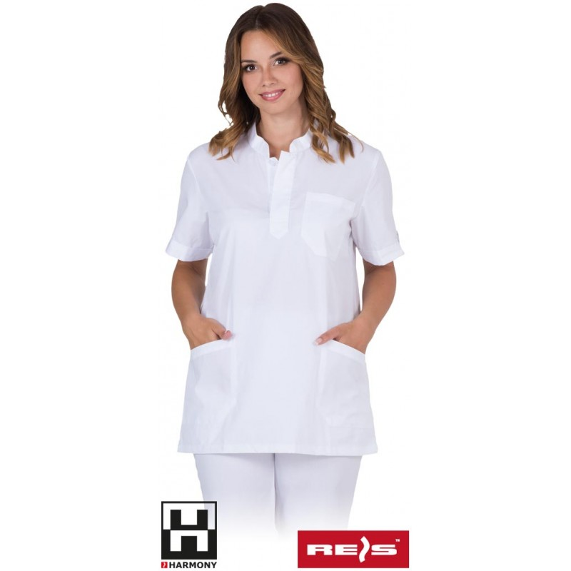 Damska-biała-bluza-ochronna - LIRA-J