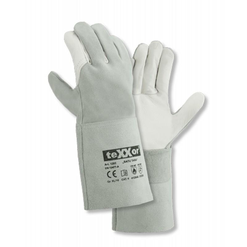 Rękawice-ochronne-spawalnicze-skóra-licowa-i-dwoina - TEXXOR-1202-BATU TARA