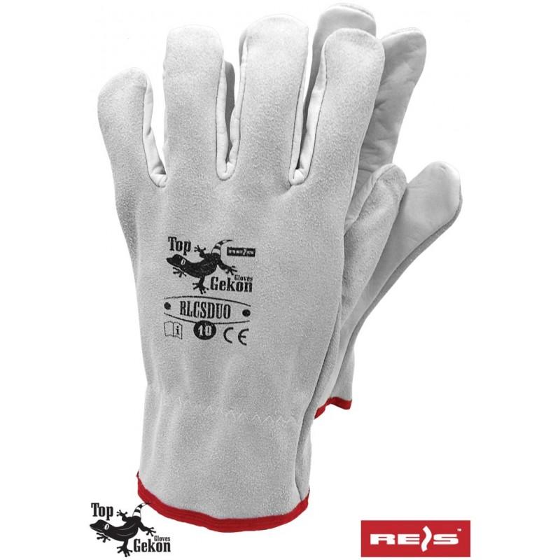 Rękawice-ochronne-całoskórzane-lico-dwoina - RLCSDUO