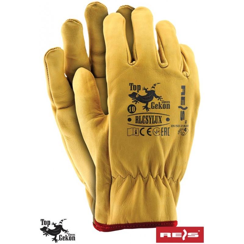 Rękawice-ochronne-całoskórzane-skóra-licowa - RLCSYLUX