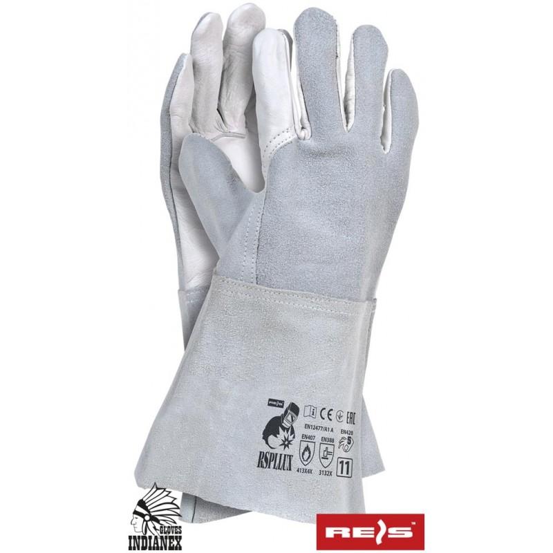 Rękawice-spawalnicze-wykonane-ze-skóry-bydlecej-lico-dwoina - RSPLLUX
