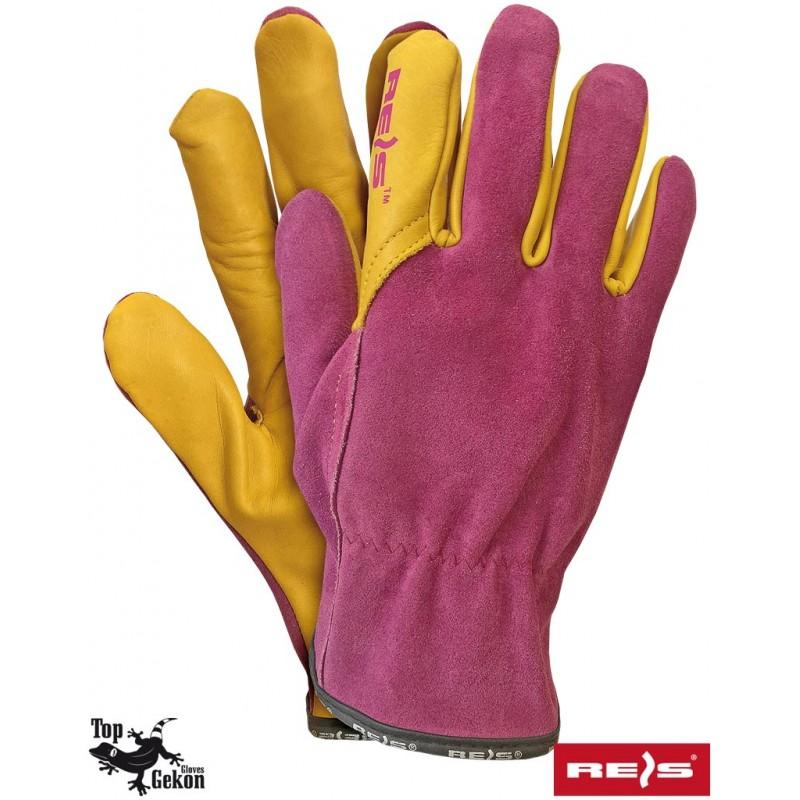 Damskie-rękawice-ochronne-skórzane - LAMPART