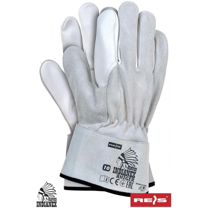 Rękawice-ochronne-skórzane-lico-kozie-dwoina-bydlęca - RHIGER