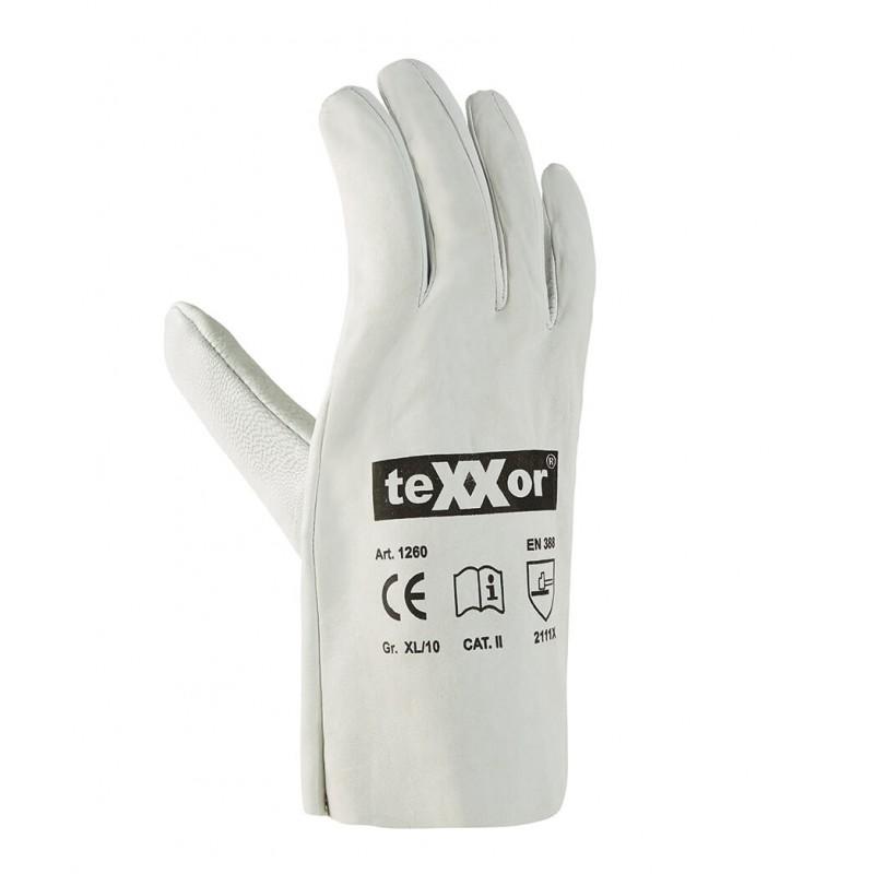 Rękawice-ochronne-ze-skóry-licowej-koziej - TEXXOR-1260