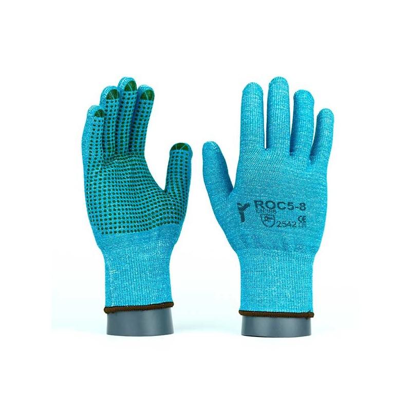 Rękawice-ochronne-dziane-przeciwprzecięciowe - JS-GLOVES-ROC5V-ROC5