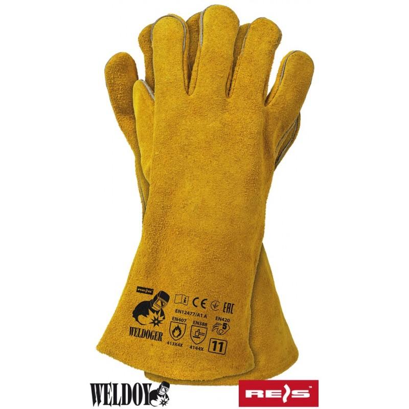 Rękawice-ochronne-spawalnicze-skórzane-dwoina-bydlęca - WELDOGER