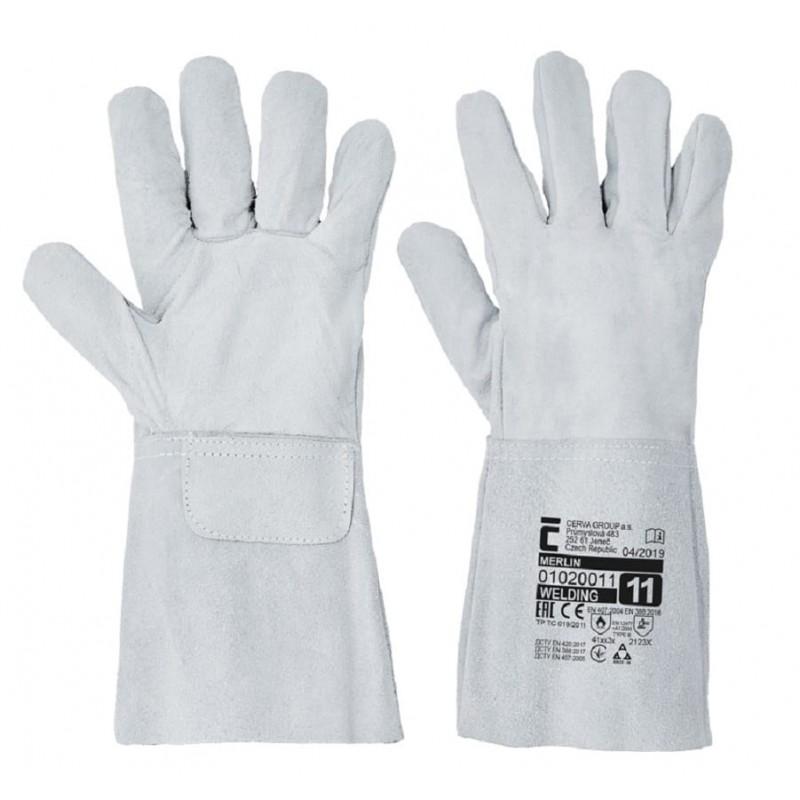 Rękawice-skórzane-spawalnicze-dwoina-bydlęca - MERLIN