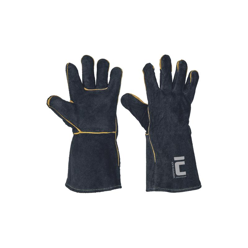 Rękawice-ochronne-spawalnicze-dwoina-bydlęca - SANDPIPER-BLACK