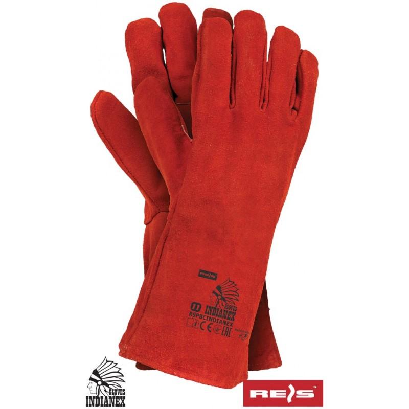 Rękawice-ochronne-całoskórzane-dwoina-bydlęca - RSPBINDIANEX