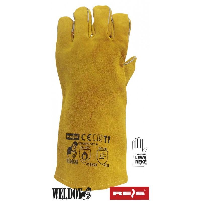 Rękawica-ochronna-spawalnicza-na-lewą-rękę - WELDOGER-L