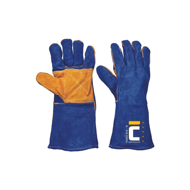Rekawice-ochronne-spawalnicze-dwoina-bydlęca-szyte-nićmi-kevlarowymi - PUGNAX-BLUE