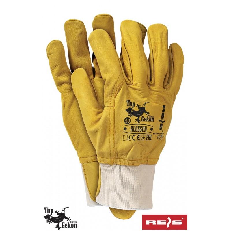 Rękawice-ochronne-całoskórzane-skóra-licowa-kozia - RLCSSUN