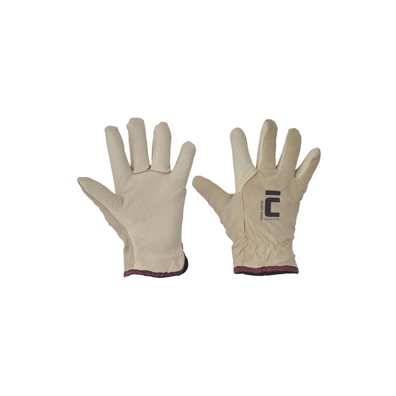 Rękawice-całoskórzane-zimowe - HERON-WINTER