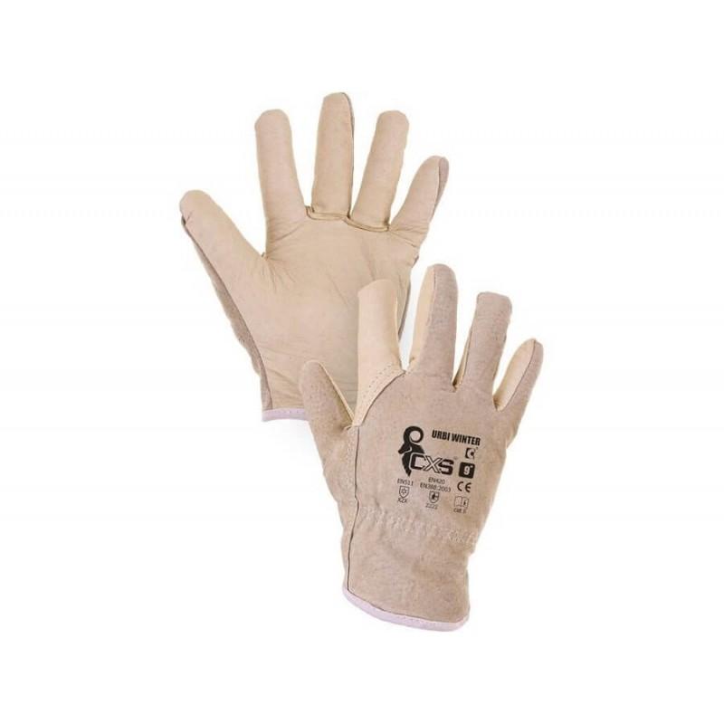 Ocieplane-rękawice-całoskórzane - CXS-URBI-WINTER