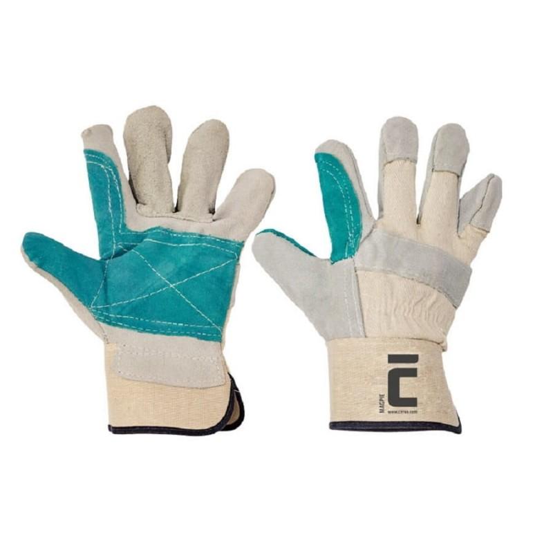 Rękawice-ochronne-podwójnie-wzmacniane-dwoiną-bydlecą-rozmiar-10 - MAGPIE