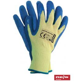 RKEVBLUESTONE - rękawice ochronne przeciwprzcięciowe powlekane latexem