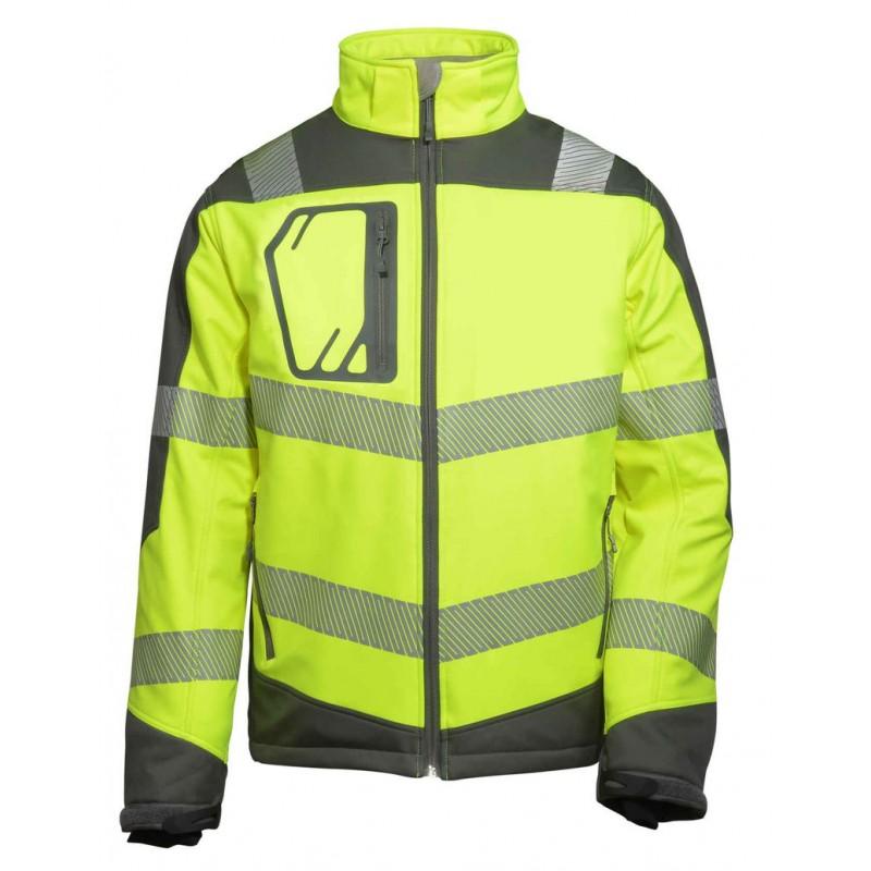 Termiczna-kurtka-softshell-ostrzegawcza-z-podszewką-aluminiową - BETA-VWJK268YG