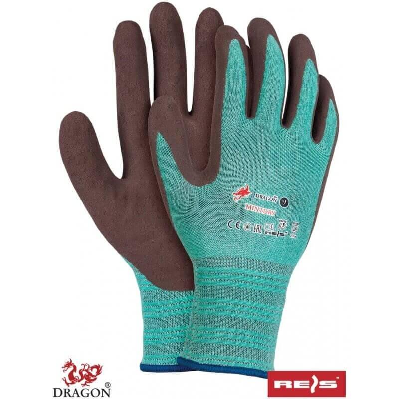 Cienkie-elastyczne-rękawice-ochronne-powlekane-lateksem - MINTDRY
