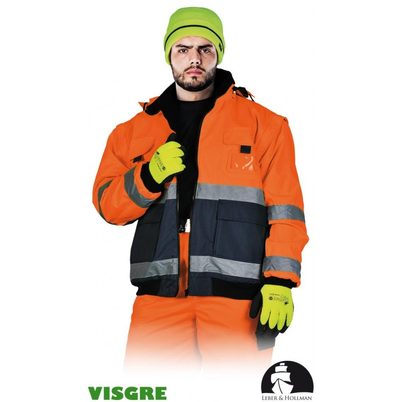 Ocieplana-kurtka-ochronna-ostrzegawcza-z-podszewką-polarową-wodoodporna - LH-VIBER