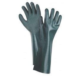 UNIVERSAL SZORSTKOWANE 40cm - rękawice ochronne powlekane PCV z nitrylem