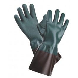 UNIVERSAL SZORSTKOWANE 45cm - rękawice ochronne powlekane PCV z nitrylem