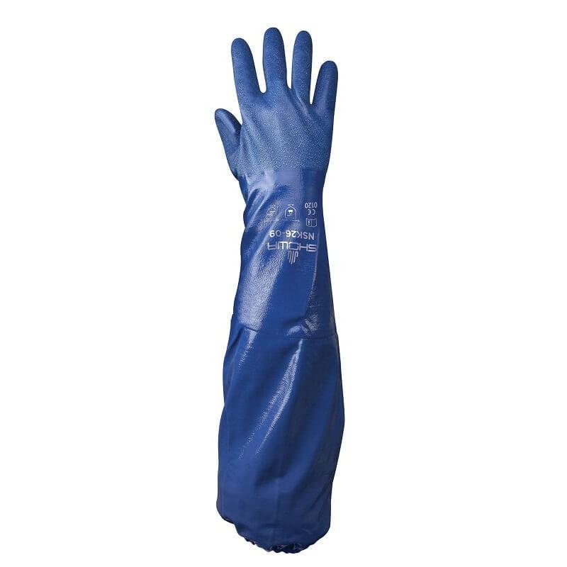 Długie-rękawice-ochronne-chemoodporne-powlekane-nitrylem-SHOWA-NSK-26