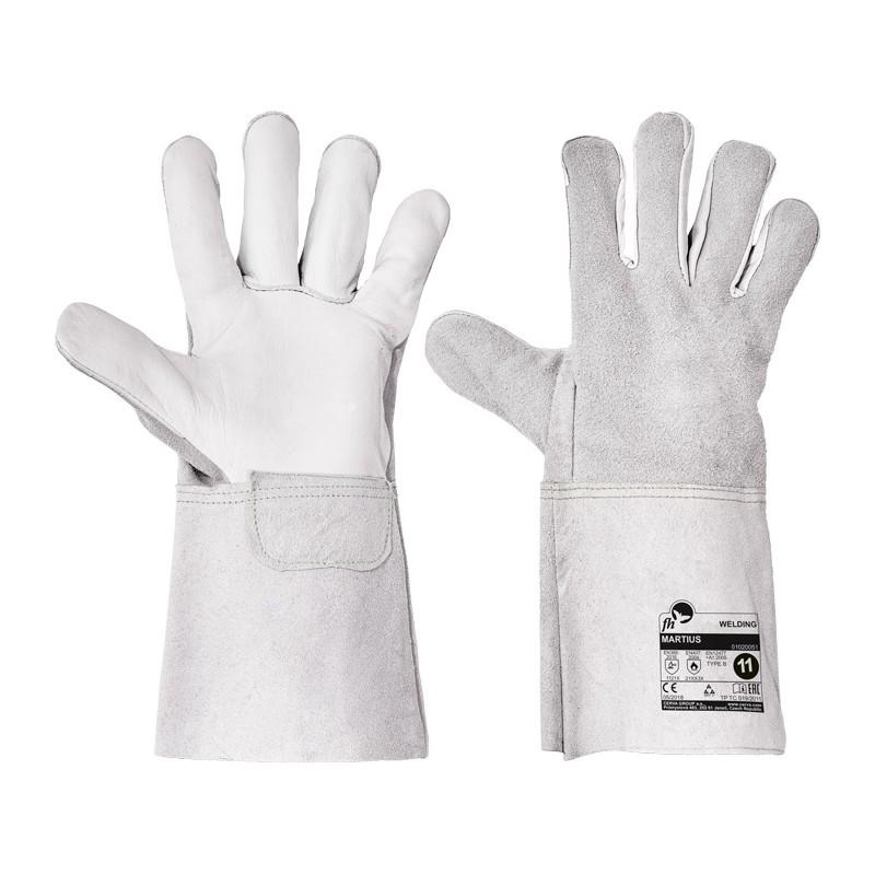 Rękawice-ochronne-spawalnicze-skórzane-lico-dwoina - MARTIUS