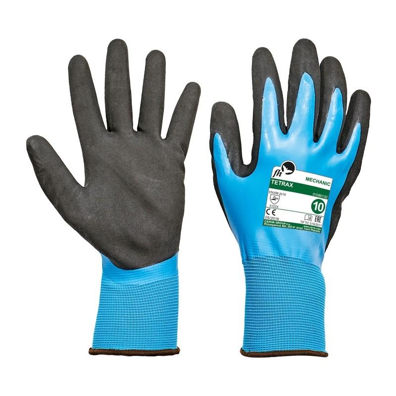 Rękawice-ochronne-powlekane-lateksem-w-całości - TETRAX