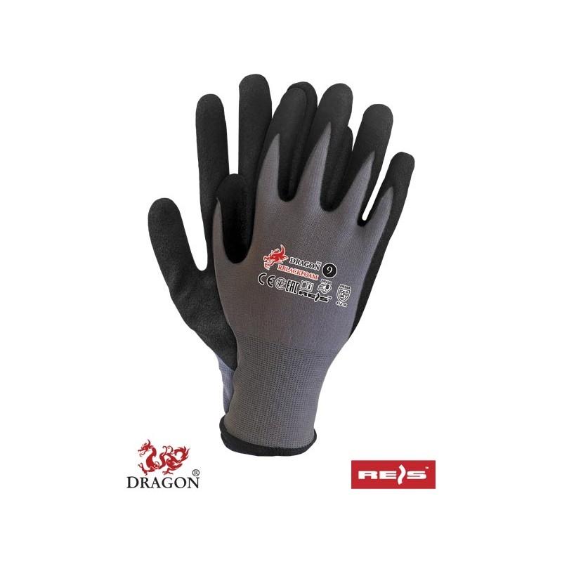 Rękawice-ochronne-powlekane-spienionym-nitrylem - RBLACKFOAM