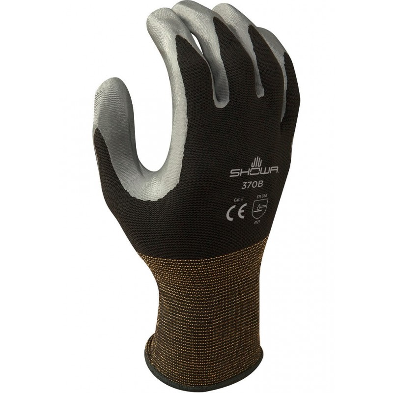 Rękawice-ochronne-nylonowe-powlekane-nitrylem-SHOWA-370-B-czarne