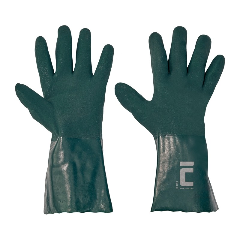 Rękawice-ochronne-powlekane-zielonym-PVC -PETREL