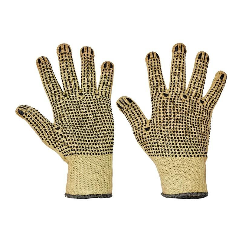 Rękawice-przeciwprzecięciowe-nakropione-obustronnie-PCV - CHIFFCHAFF