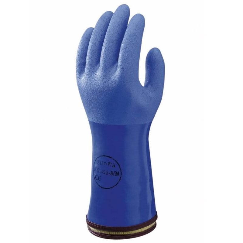 Rękawice-chemoodporne-ocieplane-powlekane-pcv - SHOWA-495
