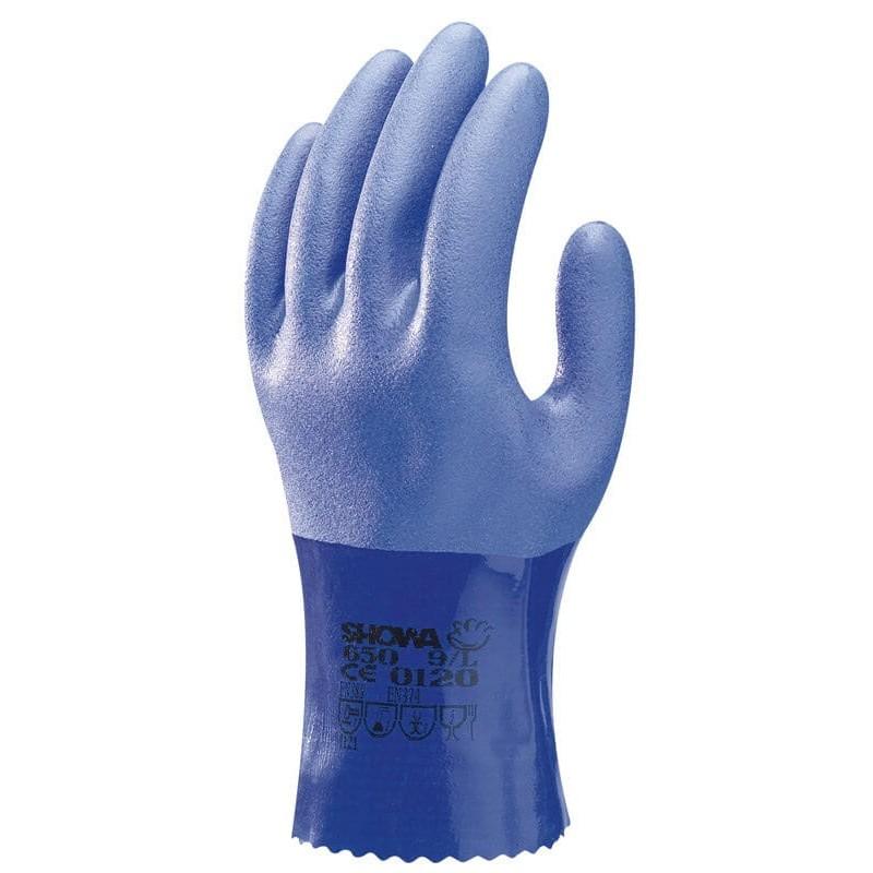 Rękawice-chemoodporne-powlekane-pcv - SHOWA-650