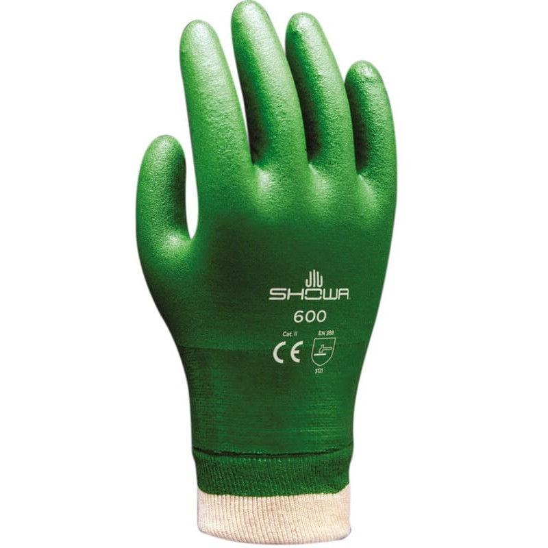 SHOWA 600 GREEN - RĘKAWICE...