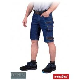 Spodnie-męskie-dżinsowe-z-krótkimi-nogawkami - JEANS303