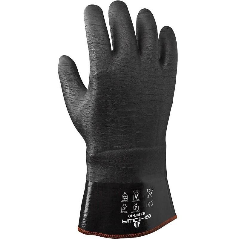 Rękawice-chemoodporne-termiczne-powlekane-pianką-neoprenową - SHOWA-6781-R