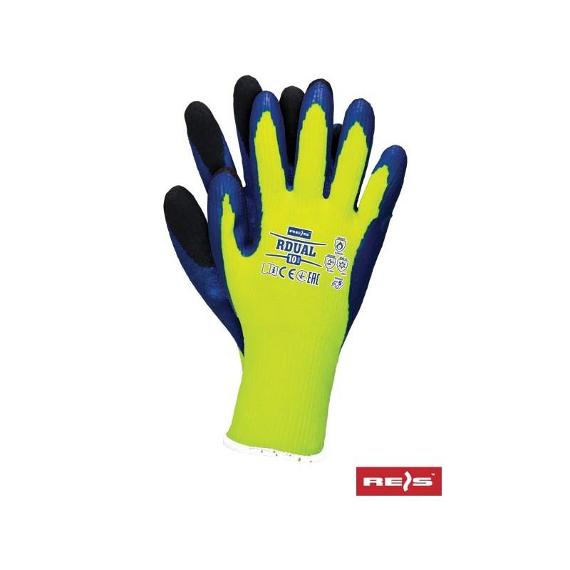 Rękawice-ochronne-ocieplane-powlekane-porowatą-gumą - RDUAL