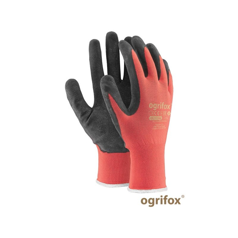 Rękawice-ochronne-poliestrowe-powlekane-lateksem - OX-LATEKS