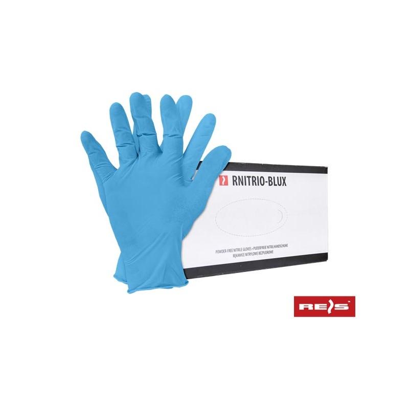 Rękawice-bezpudrowe-nitrylowe-niebieskie - RNITRIO-BLUX