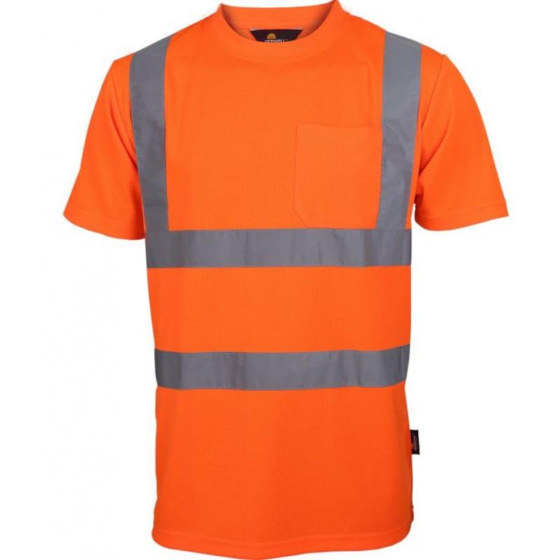 Koszulka-ostrzegawcza-z-krótkim-rękawem-i-taśmami-odblaskowymi - VWTS03-B