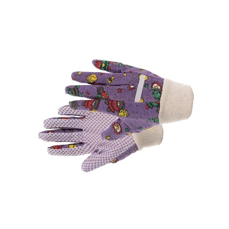 Komfortowe-rękawice-ochronne-bawełniane-z-nakropieniem-pvc - KIXX-SWEET