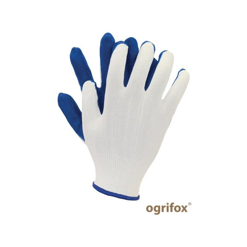 Rękawice-ochronne-poliestrowe-powlekane-lateksem - OX-LATUA