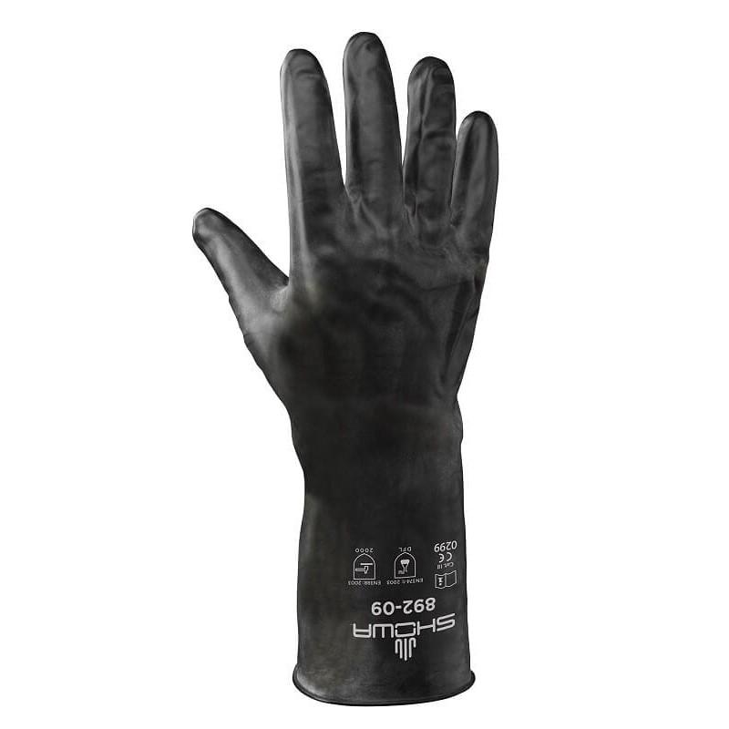 Cienkie-rękawice-chemoodporne-butylowe-powlekane-gumą-VITON - SHOWA-892-VITON