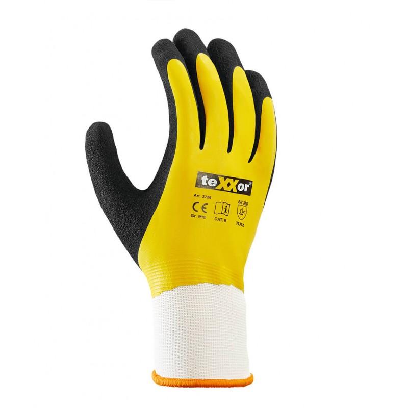 Rękawice-ochronne-powlekane-podwójnie-gumą - TEXXOR-2226